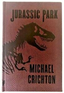 Jurassic Park Book by Michael Crichton Hardcover Collectors Edition Faux Leather