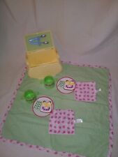 American Girl Bitty Baby Yellow Picnic Basket w/ sandwich & Accessories EUC RARE