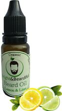 Lemon & Lime Beard Oil for Conditioning & Growth, Thicker & Softer Beard 15ml