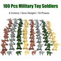 100Pcs/Set 5CM Military Plastic Soldiers Army Men Figures 10 Poses Kid Gift Toys