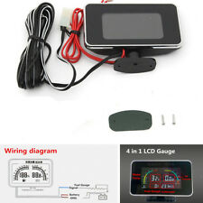 4in1 LCD Digital Display Voltmeter/Water Temp/Oil Pressure/Fuel Gauge Universal