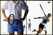 1989 John McEnroe photo Nike tennis shoes shorts shirt vintage print ad