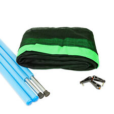 8ft Trampoline Net and Pole Package - Green - Free Delivery