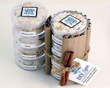 DIY SPA AT HOME Dead Sea Salt Soaks - Sampler of 4 Essential Oil Blends & Petals