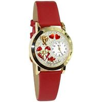 Whimsical Watches Women's C1226001 Classic Gold Valentine's Day Red Red Leather