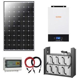 5kw Off Grid Solar Kit, Mountings, 3kW PV Panels, Inverter, 8kWh Energy Storage