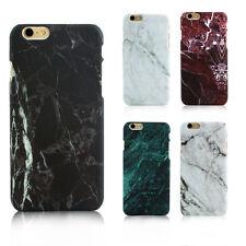 Slim Custodia Protettiva Cover MARMO Rigida per Apple iPhone & Samsung