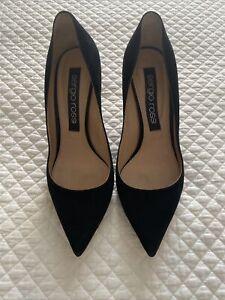 Sergio Rossi Black Suede Heels Size 40