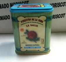 PIMENTON DE LA VERA ( SMOKED PAPRIKA ) SWEET - DOUX - DULCE METAL TIN 75g