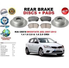 FOR KIA CEED CEE'D SW ESTATE 2007-2012 REAR BRAKE DISCS SET + BRAKE PADS KIT