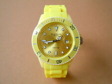 MADISON New York Candy Time Orologio Uomo con nastro in silicone colore giallo
