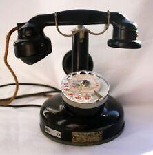 ANCIEN TELEPHONE A COLONNE ET CADRAN / TYPE 1924 / BAKELITE NOIRE / TBE