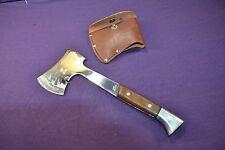 Scarce Vintage Coast Axe Ax Hatchet with Leather Sheath