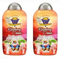 2 Bottles European Gold Raspberry Creme Bronzer 13.5oz Tanning Bed Lotion