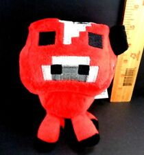 "Minecraft Video Game Red Cow Plush Stuffed toy Mooshroom Mojang US Seller 6"""