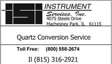 Car Clock Quartz Conversion Service QC120