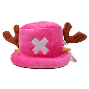 Anime One Piece Tony Chopper Cap Cosplay Plush Winter Hat Women Gifts Rose Red