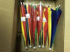 Lot Of 6 New Umbrella Hats Multi-colored 13 Inch