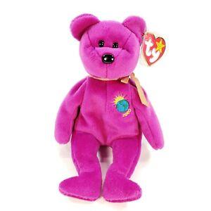 """TY Beanie Babies """"Millennium"""" the Bear w/ Heart & Tush Tags - RARE No Errors"""