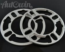 2pcs x 5mm ALLOY WHEEL SPACERS SHIMS SPACER 4 & 5 STUD BMW AUDI VW OPEL NEW