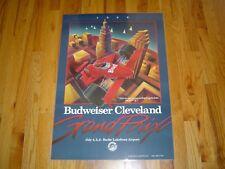1986 Budweiser Cleveland Grand Prix Original Laminated Poster