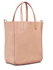 SHINOLA WOMEN'S SIGNATURE MINI LEATHER SHOPPER BLUSH PINK NATURAL BAG CROSSBODY