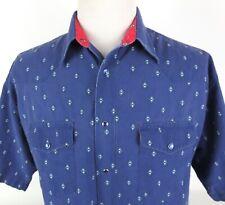 Wrangler XL Wild Aztec Short Sleeve Pearl Snap Shirt Western Rodeo Tribal Fading