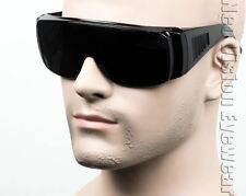 Large Will Fit Over Most Rx Glasses Sunglasses Super Dark 203