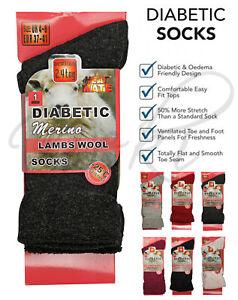 Ladies Diabetic Socks Merino Wool Grey Non Elastic Women Wider Top UK Warm Socks