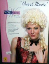"NIB Blonde ""Sweet Marie""  Deluxe Costume Wig by Secret Wishes NEW Free Ship USA"