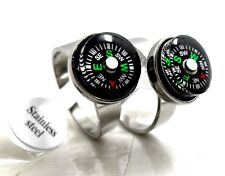 10pcs compass Stainless Steel Rings Men's Wholesale Fashion Jewelry Lots
