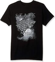 Game of Thrones Mens T-Shirts Black Size Large L Stark Print Graphic Tee $32 369