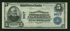 U.S. 1902 $5 NATIONAL BANKNOTE, LOS ANGELES, FR-590 FARMERS & MERCHANTS BANK VF+