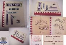 PENNSYLVANIA GRANGE COOK BOOK 1,500 RECIPE 536p 1972/77 candy,canning preserving