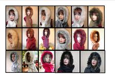 DONNA sciarpa cappuccio con morbido inverno berretto in lana colore a scelta