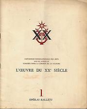 Exposition Internationale des Arts - L'Œuvre du XXe Siécle, Paris, 1952