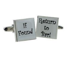 If Found Return to Bar Cufflinks -  X2BOCS066