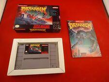 Drakkhen  (Super Nintendo SNES 1991) COMPLETE w/ Box manual game WORKS! Drakhen