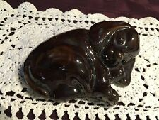BROWN VINTAGE POTTERY DOG ~ EXCELLENT SMALL GIFT ~ MCCOY? ~ ONE-OF-A-KIND
