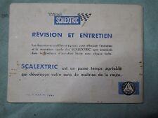 P351 SCALEXTRIC NOTICE CIRCUIT COURSE VOITURE ELECTRIQUE TRI ANG BON ETAT
