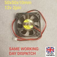 50x50x10mm DC 0.12A 12V 2-Pin PC Computer CPU System Brushless Cooling Fan 5010