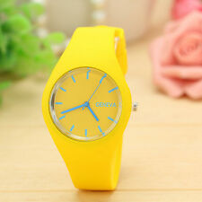 Unisex Women Men Watch Stripe Sports Silicone Watches Wristwatch fashion Gift