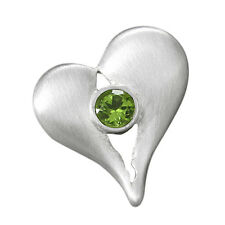 schmuck-michel Mujer anhänger SILBER 925 Corazón Peridoto 1,0 QUILATES (3201)