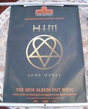 H.I.M. Love Metal 2003 promo poster 33 x 23  original