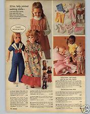 "1972 PAPER AD Miss Peep Kewpie Baby Zuri Doll Dolls Annette 32"" Walking Talking"