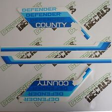 LAND ROVER DEFENDER 90 County Blue Colors 1990-1992 DECAL Stripes Sticker SET