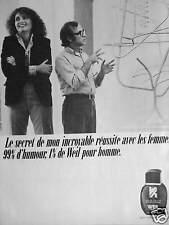 PUBLICITÉ 1981 PARFUM WEIL AVEC LES FEMMES 99% HUMOUR 1% POUR HOMME WOODY ALLEN