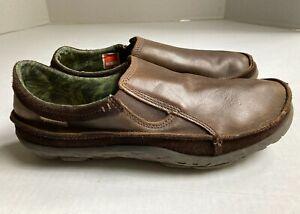 Cushe Men's Size 12 Brown Leather Dawn Patrol Slipper Loafer Shoes UM01241