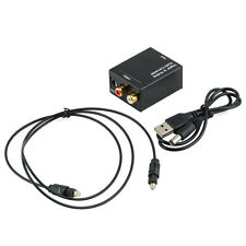 Digital Optical Coaxial Toslink Signal to Analog Audio Converter Adapter RCA ky