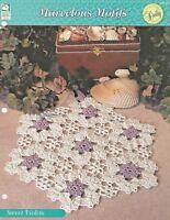 Sweet Violets Doily Crochet Pattern - Marvelous Motifs Doilies HOWB Series